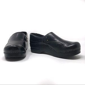 Dansko Phoebe Clog in Black Leather